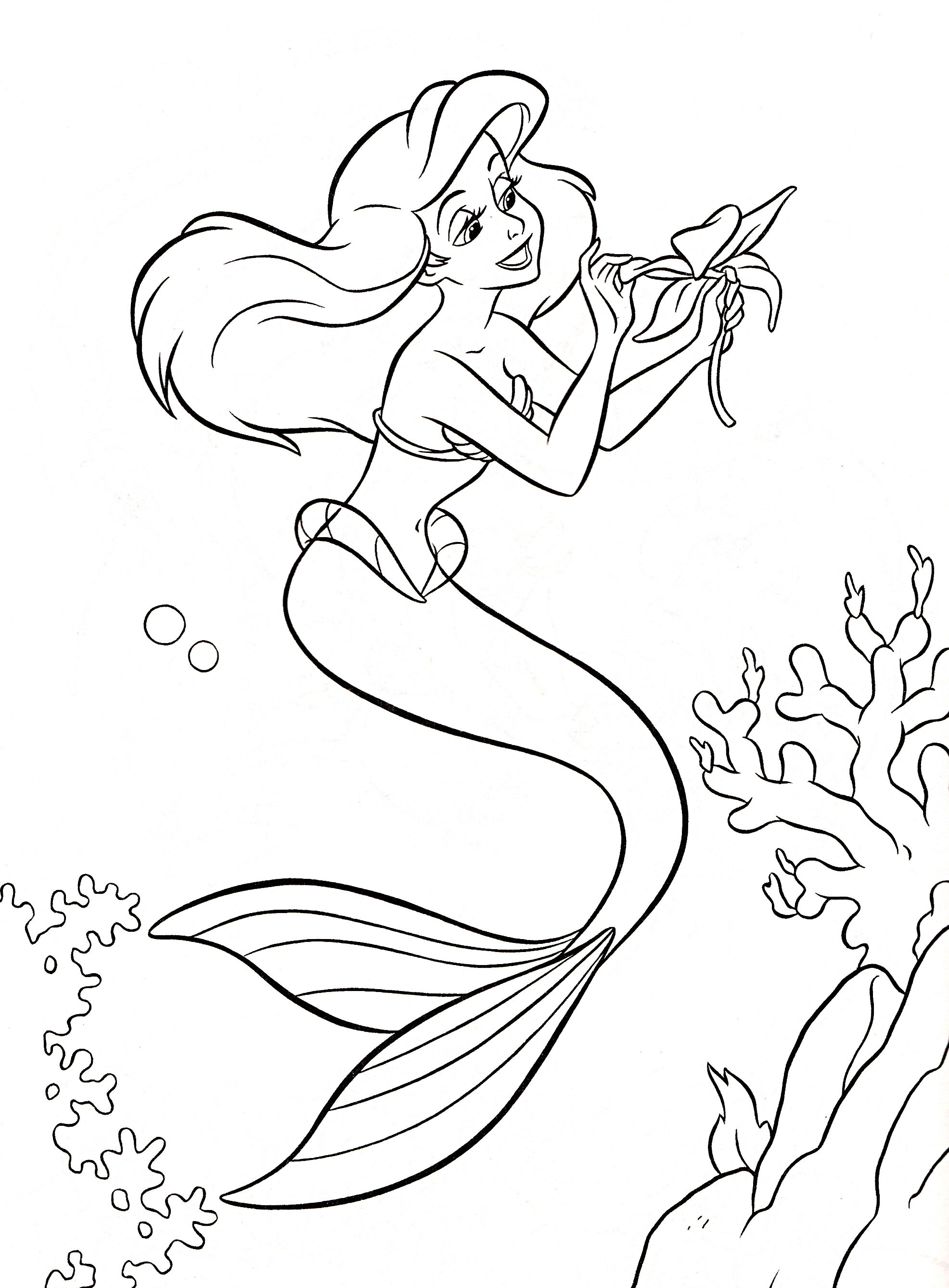 The little mermaid ariel from under the sea here is a colouring picture of ariel for you to print and colour