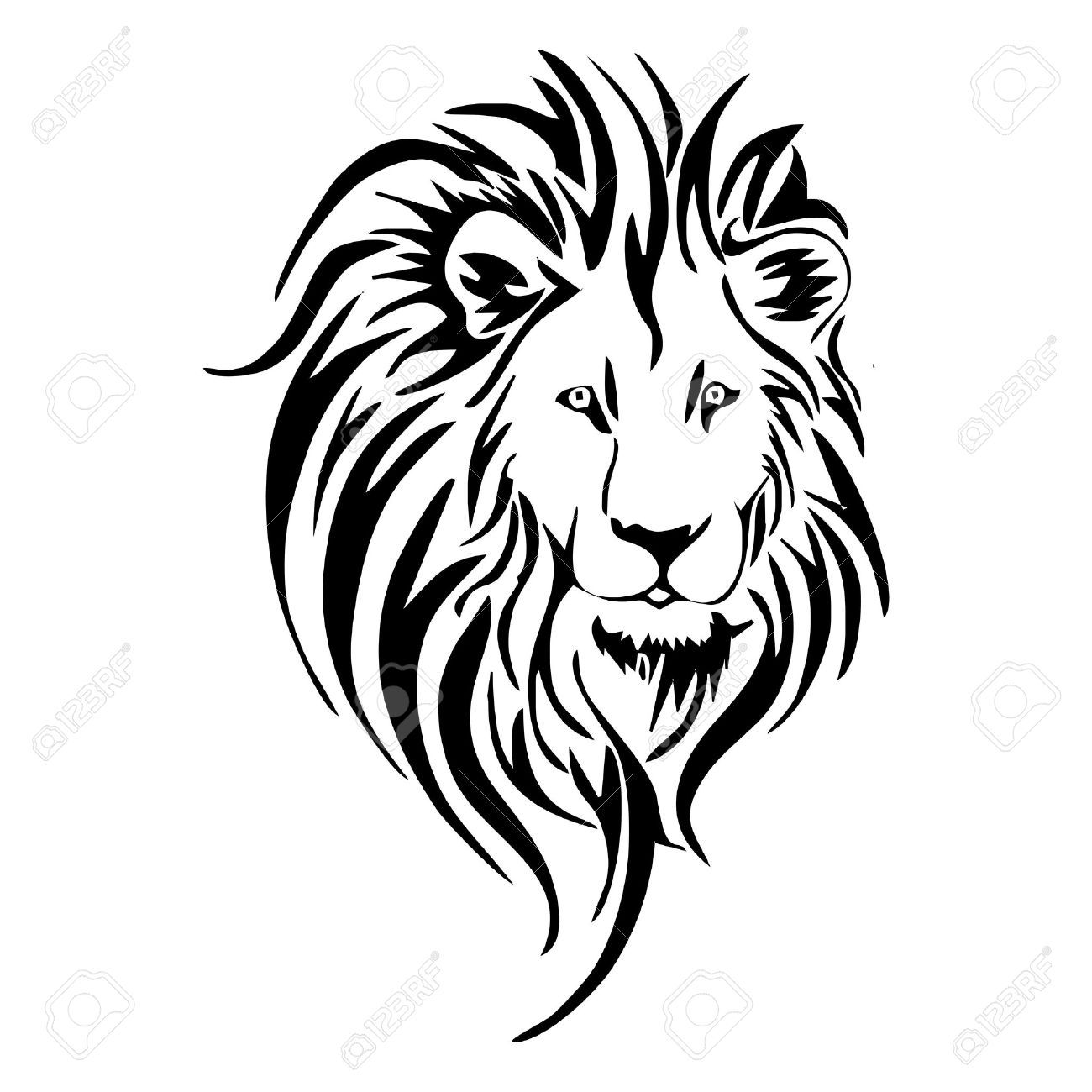 Roaring Lion Clip Art Black And White Lion Head Tattoo Royalty Free Cliparts Vectors And Stock
