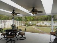 Patio Cover with skylights and ceiling fans. | Patio ...
