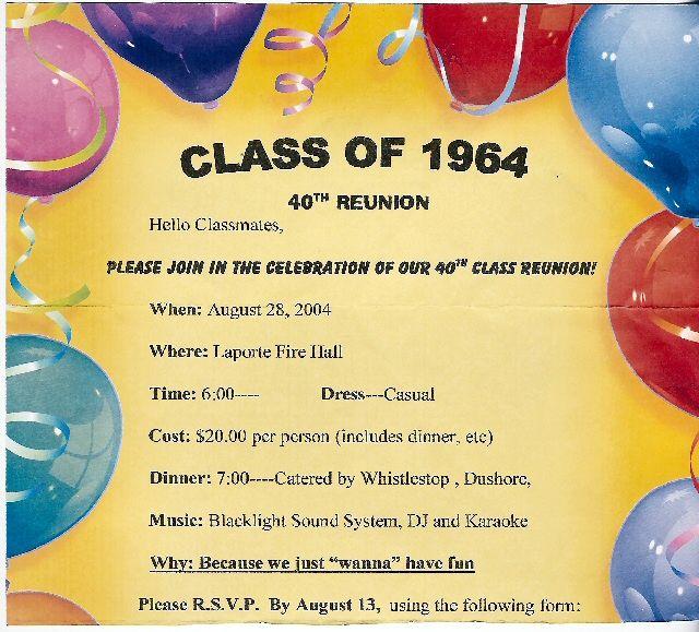 Reunion Party Invitations Class reunion ideas and Class reunion - class reunion invitation template