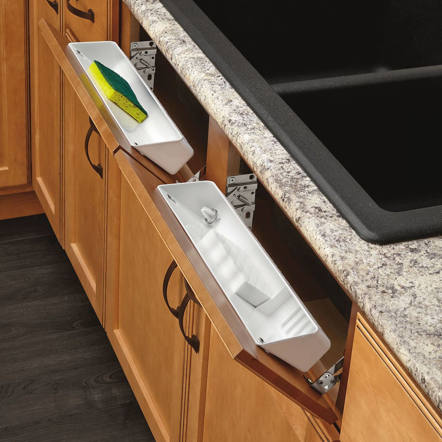 Kitchen Sink Cabinet Tray Features Includes One Conventional Open Tray One