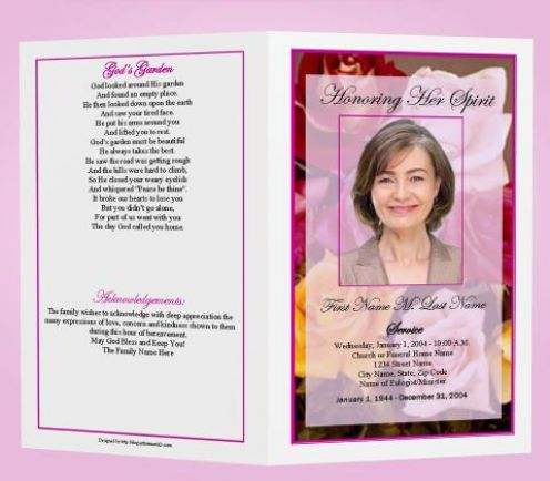 Free Funeral Program Templates funeral program template - funeral program template microsoft