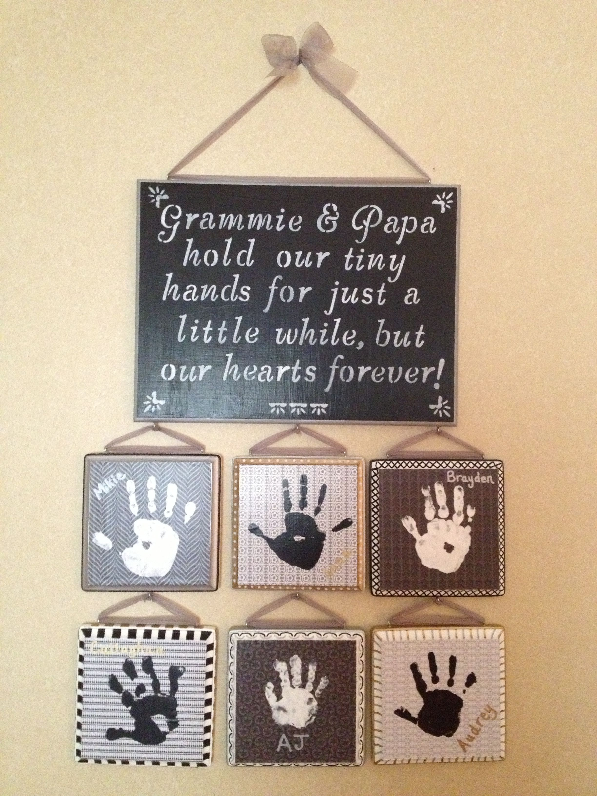 Diy Mothers Day Gifts For Grandma Great Gift For Grandparents Handprint Ideas Pinterest