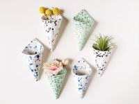 Cone Wall Planter Airplant Holder Wall Pocket by ...