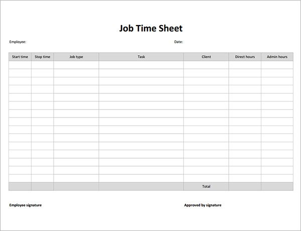 Employee Timesheet Template Free Timesheet Forms Monthly - sample payroll timesheet