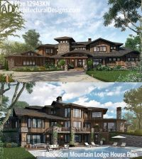 Plan 12943KN: 4 Bedroom Mountain Lodge House Plan