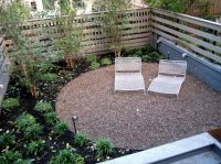 semi-circle pea gravel patio | Pavers, Stone & Brick ...
