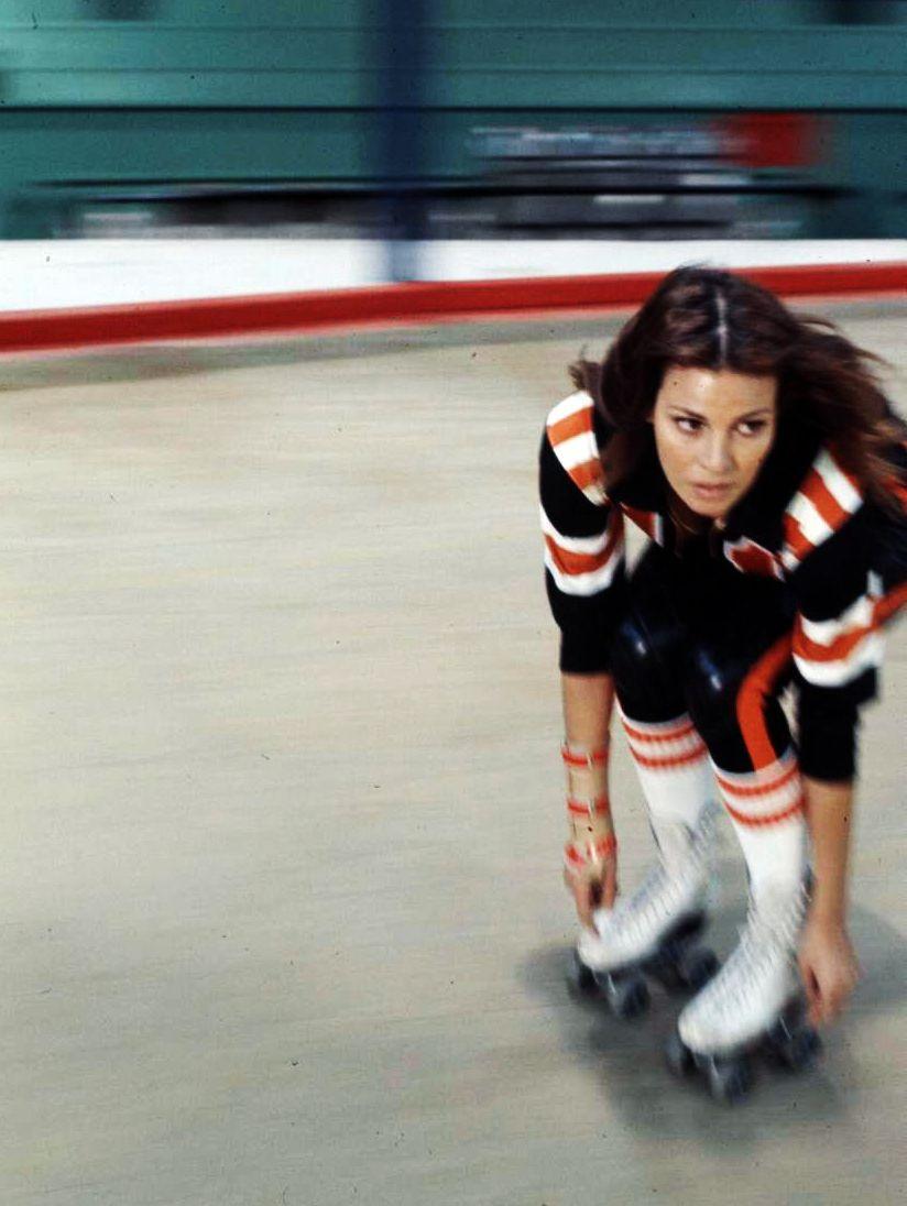 Raquel welch on skates in kansas city bomber 1972 rising ape