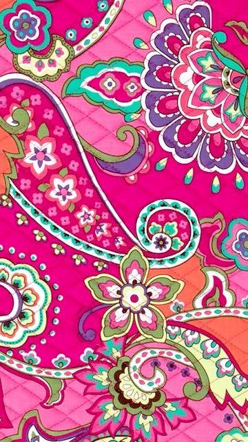 Cute Mandala Wallpaper Pink Swirls Vera Bradley Everyday Wallpaper Pinterest