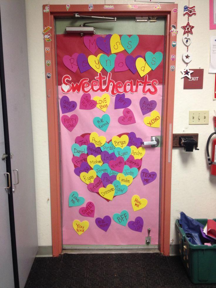 Valentine's classroom door decoration
