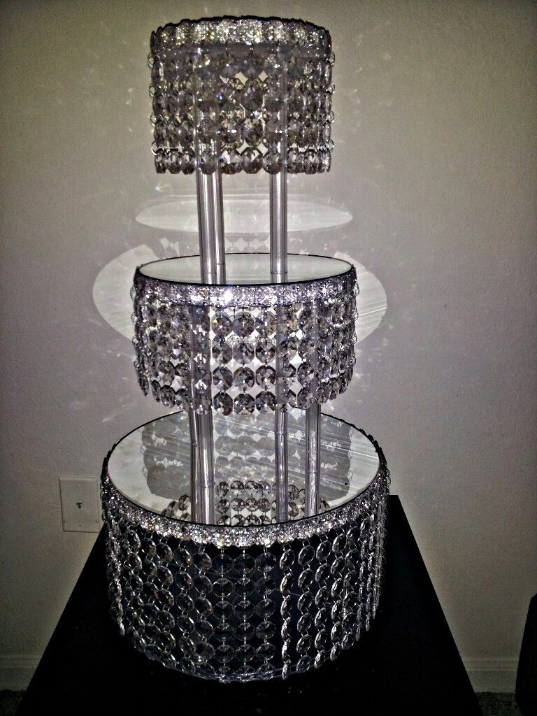 wedding cake stands Crystal Wedding Cake Stand Ebay