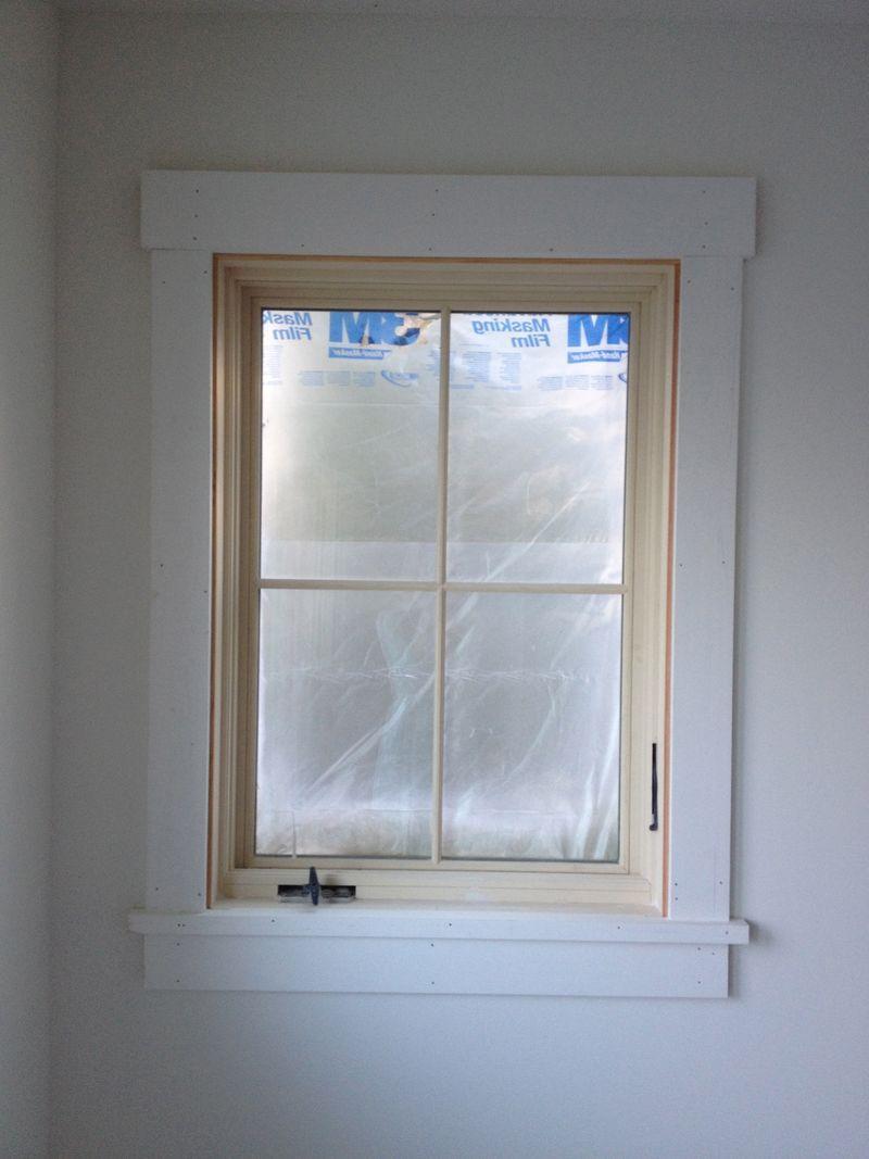 Simple classic window trim