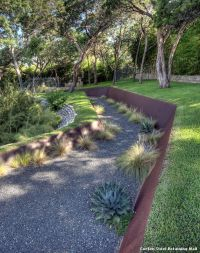 Corten Steel Retaining Wall by D