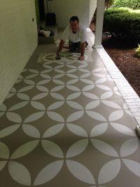 Concrete Patio Floor Paint Ideas | yard | Pinterest ...