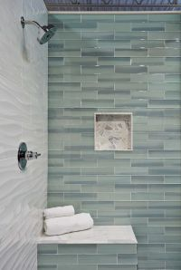 Bathroom shower wall tile - New Haven Glass Subway Tile ...