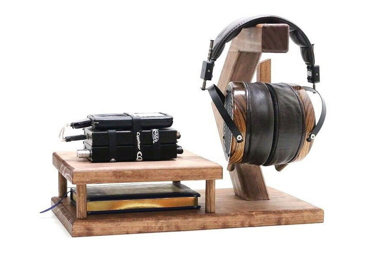 Headphones Holders Woodwarmth Headphone Dac Amp Stand Headphone Stand