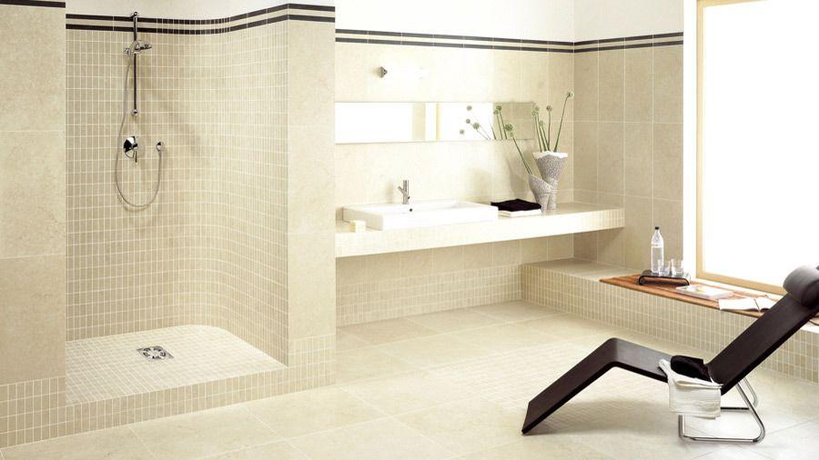 Badezimmer Helle Fliesen #2 Badezimmerideen Pinterest - badezimmer hell grauer boden