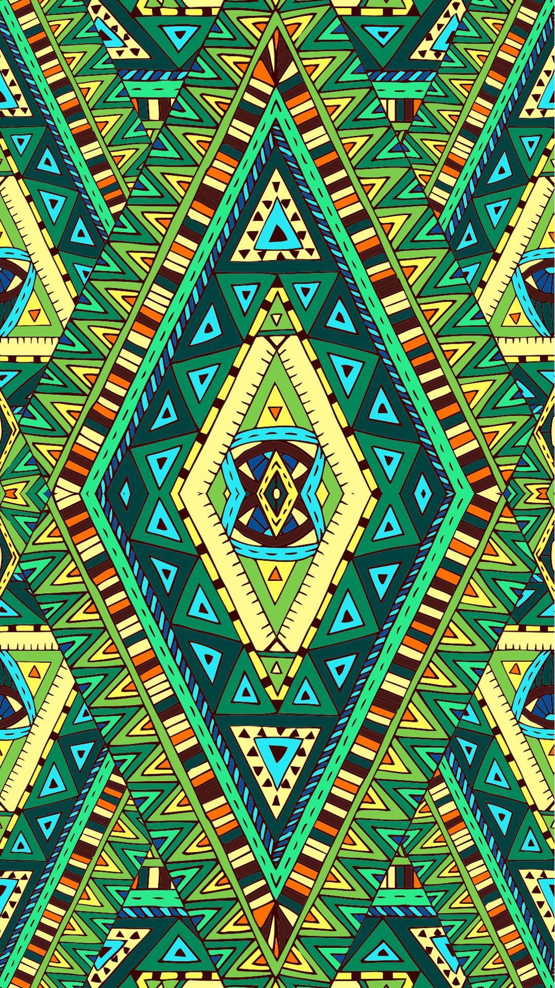 Etnik desen sevenler i in renkli wallpaperlar ethnic etnik green wallpaper