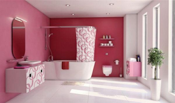 Pinke Wandfarbe u2013 Wie können Sie Ihre Wände kreativ streichen - badezimmer pink