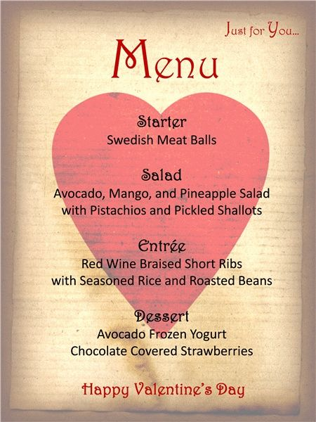 3 Menu Template For Your Valentineu0027s Day Valentines Day Dinner - dinner party menu template