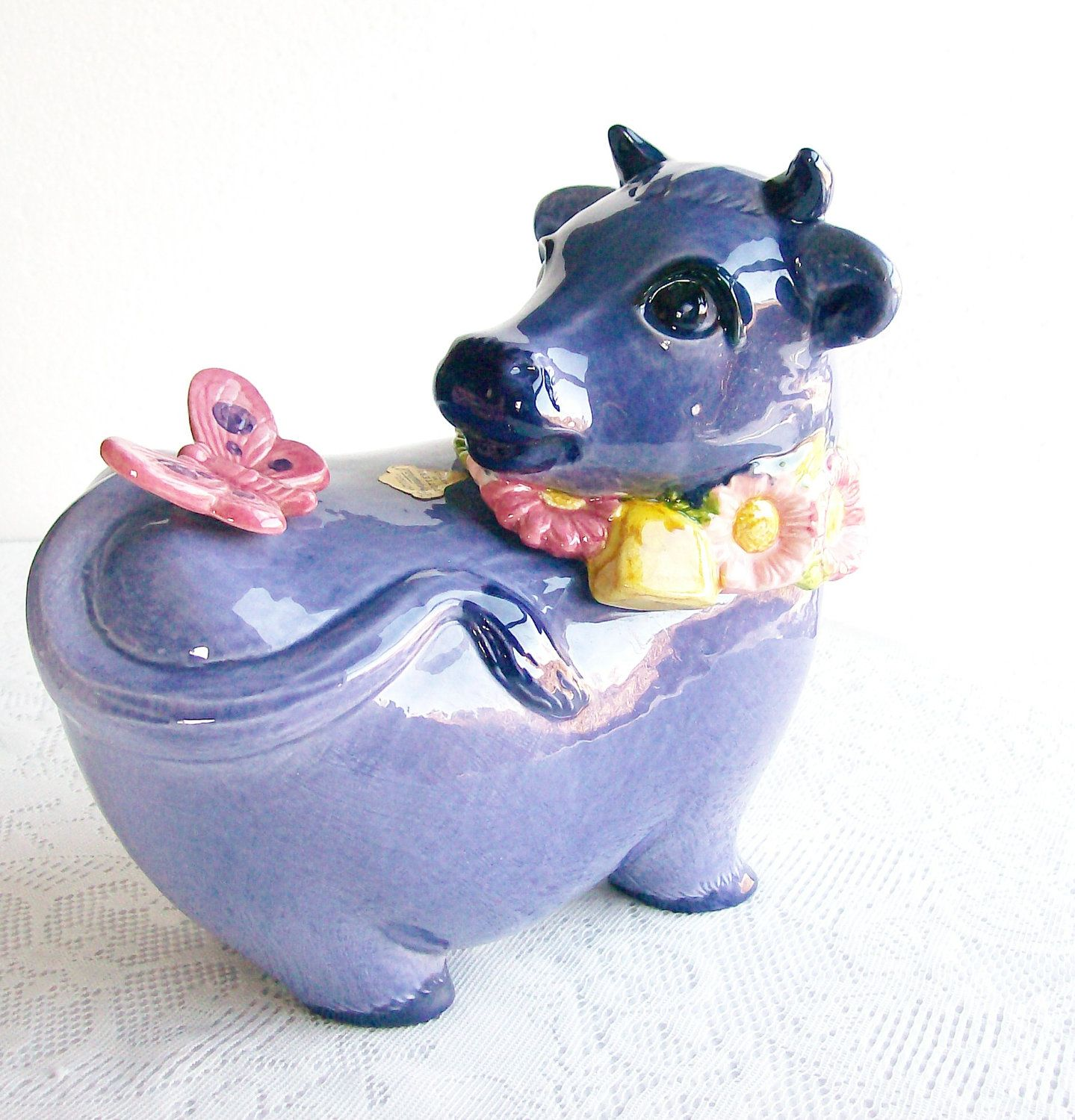 Ceramic Cookie Jar Sets Cookie Jar Metlox Poppytrail Pottery 39purple Cow