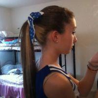 cheerleading hair!(: braided bangs, high ponytail. | Hair ...