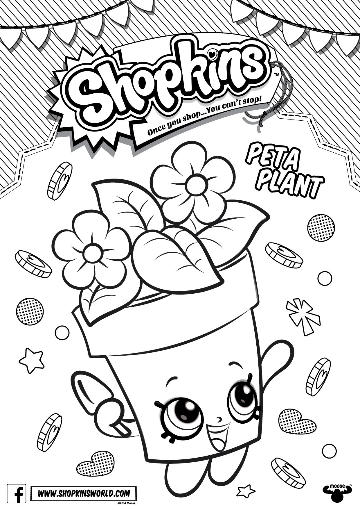 Shopkins colour in peta plant find this pin and more on coloring sheets