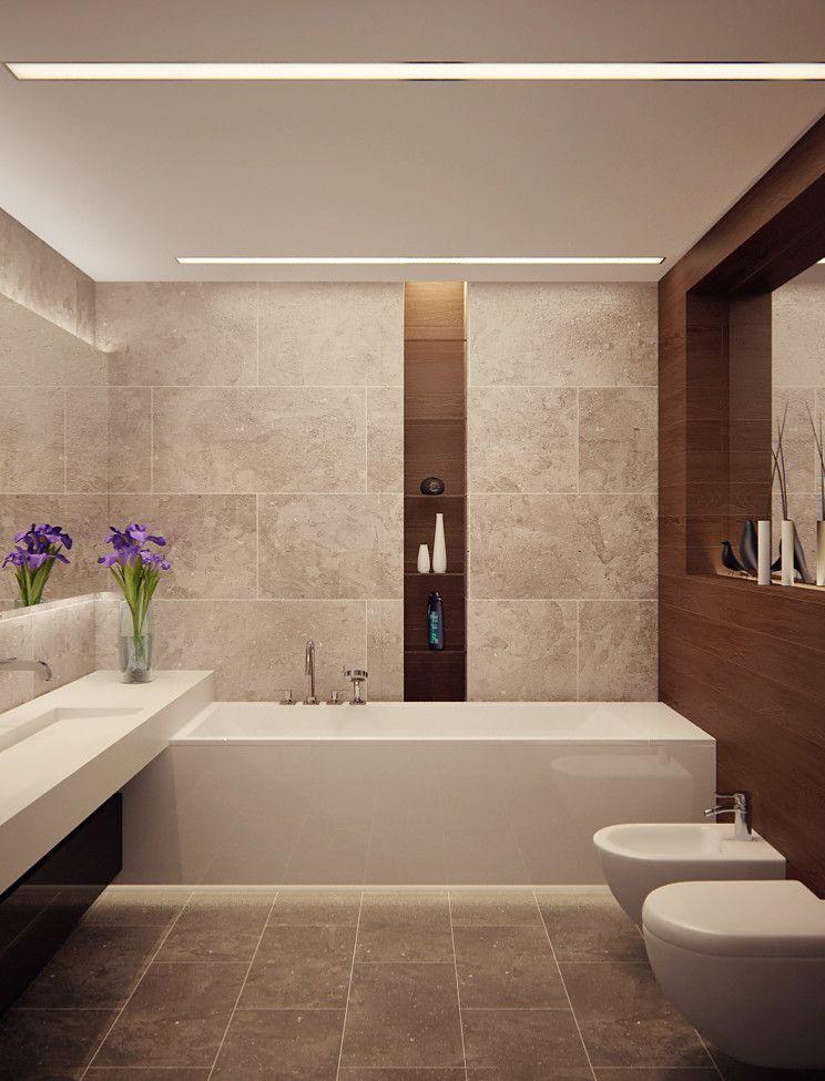 bad modern gestalten mit licht_modernes badezimmer mit eingebauten - badezimmer modern gestalten