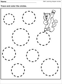 Tracing Circle Worksheets for Preschool | Activity Shelter ...