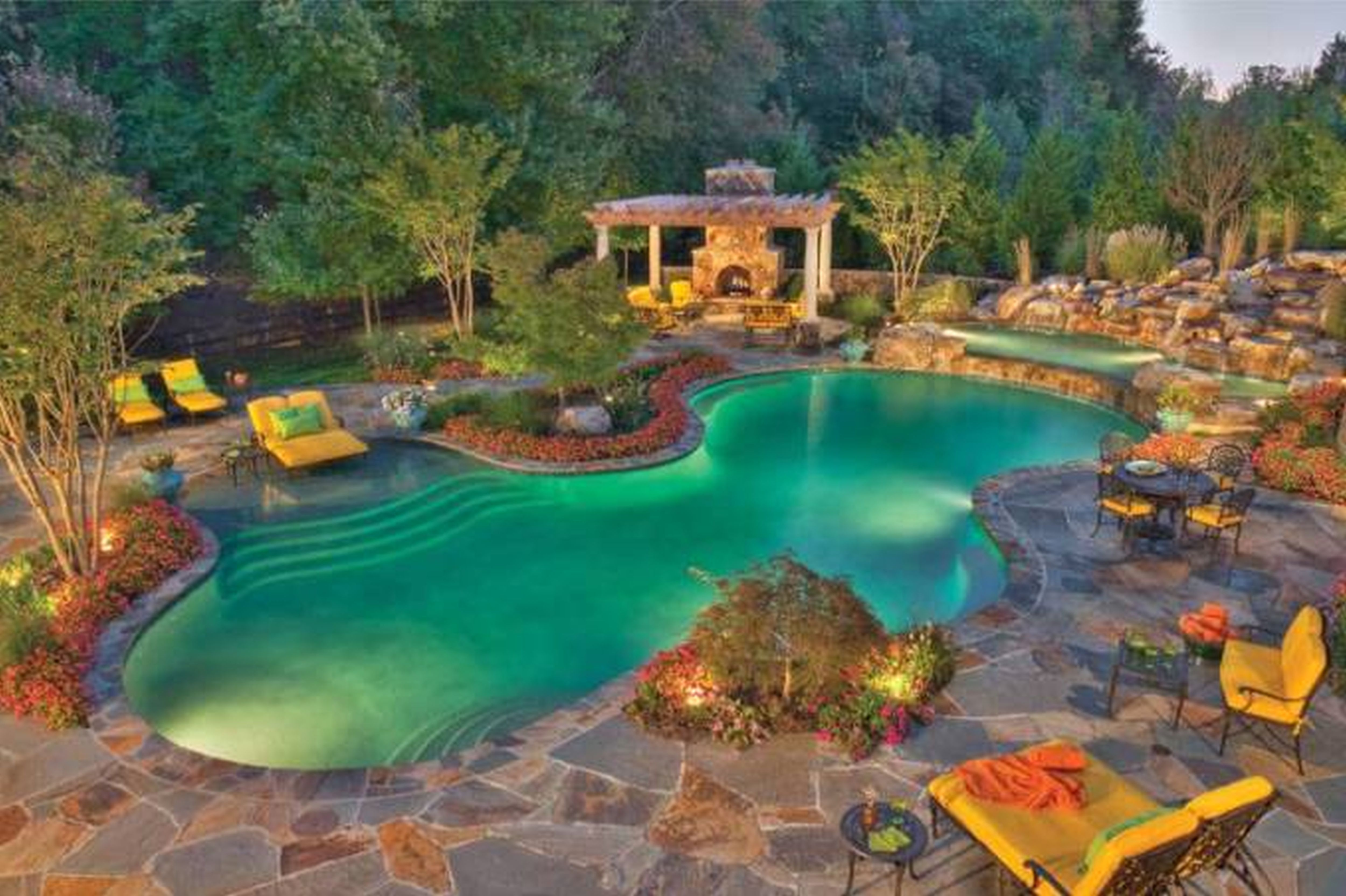 swimming pool designs and landscaping