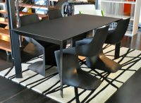 Nori table designed by Bartoli Design and Pulp chair ...