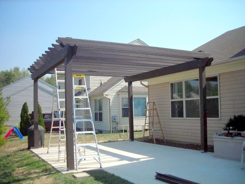 Simple Pergola Attached To House How To Build A Pergola Over A Patio For The Yard