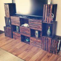 Crate furniture DIY TV stand   DIY   Pinterest   Diy tv ...