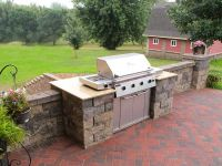backyard kitchen, built in grill, Patio, BBQ | Grill Built ...