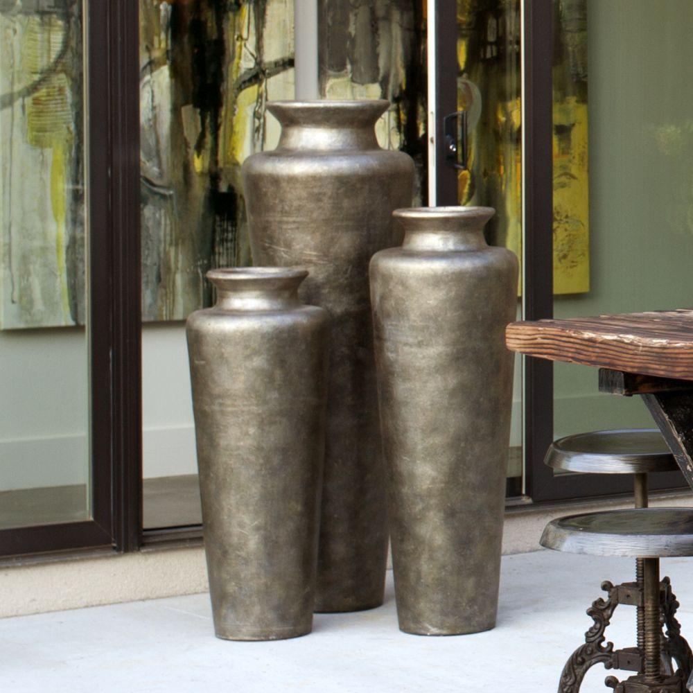 Monterrey Silver Floor Vases Jarrrones Pinterest