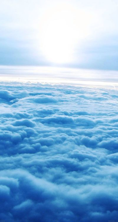 #Blue #clouds - The iPhone iOS7 Retina #Wallpaper I like! | iOS 7 Wallpapers | Pinterest | 7 ...