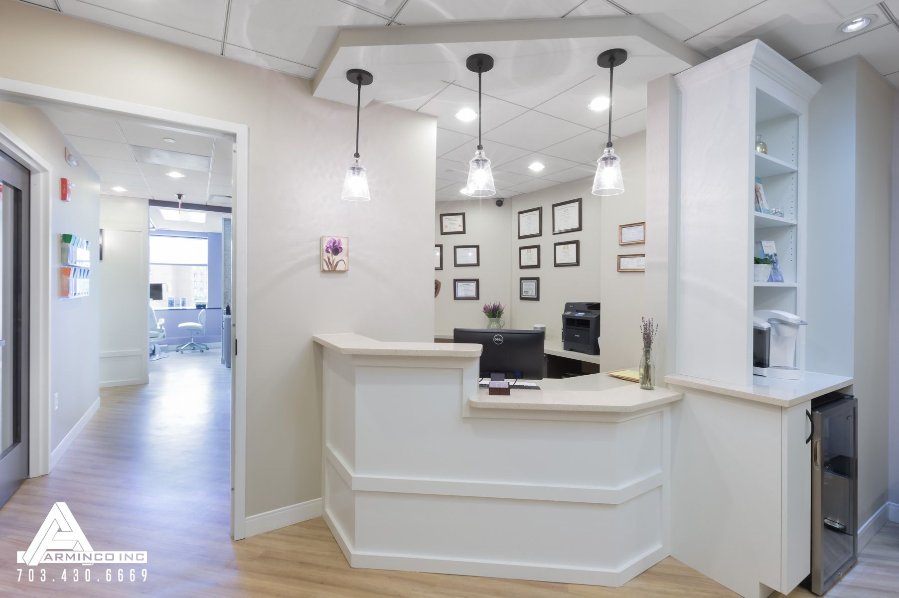 Simple Office Reception Design Simple And Bright Reception Area Dental Office Design By