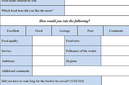 restaurant employee evaluation template