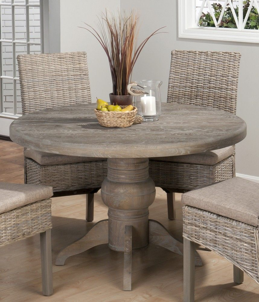 round kitchen table set Incredible View Of Dining Room With 48 Inch Fixed Top Round Dining Table Four Chairs Wooden