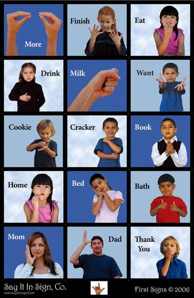 Baby Sign Language Chart Template Baby Sign Language Chart 2 Baby - baby sign language chart template