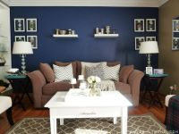 Navy Blue Walls Living Room