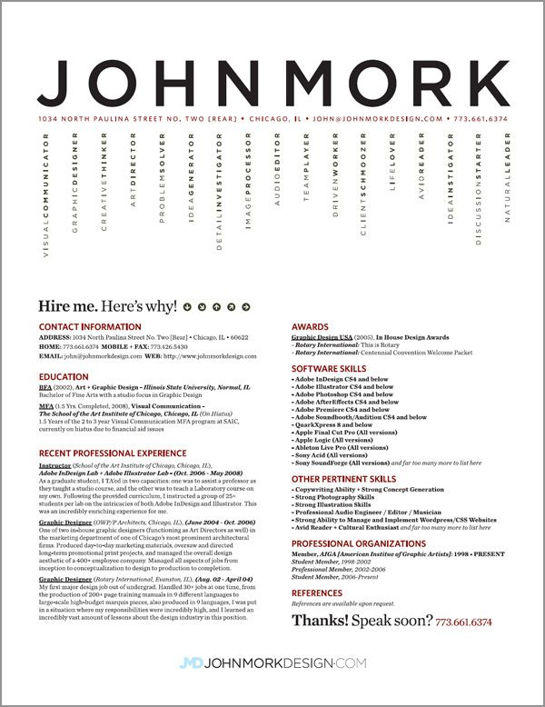 awesome resume samples