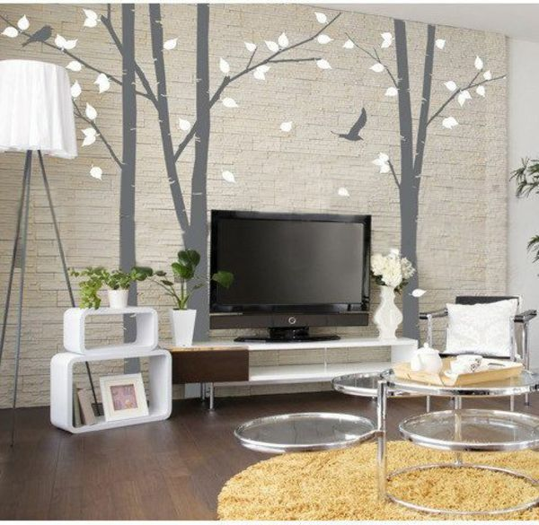 awesome Wandfarben fürs Wohnzimmer u2013 100 trendy Wohnideen für Ihre - wandgestaltung