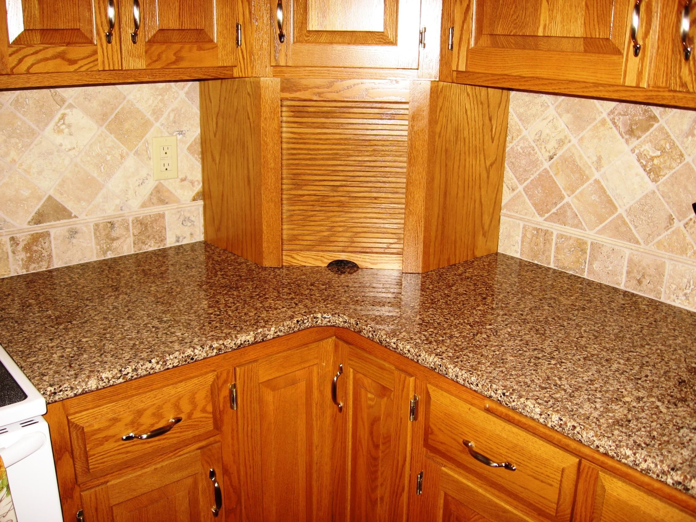 Oak Cabinets With Granite Countertops Pictures Top Best Kitchen Countertops Which Comes With Great