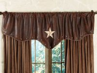 western valances with star | Starlight Trails Chocolate ...