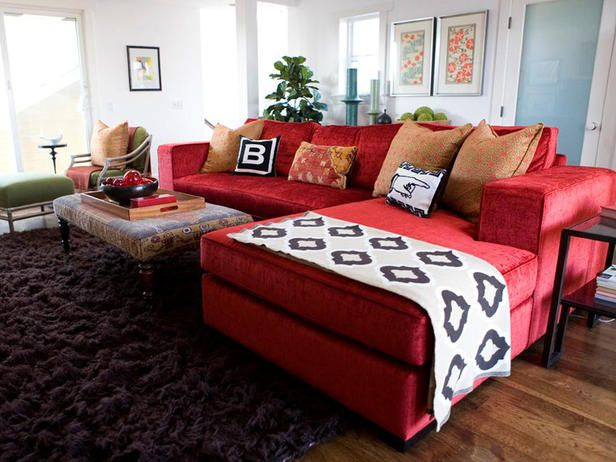 Extravagant Modern Style Red Sofas Living Room Furniture Design - red and brown living room