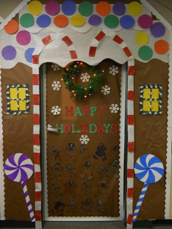 gingerbread house door decorating contest