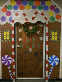 gingerbread house door decorating contest