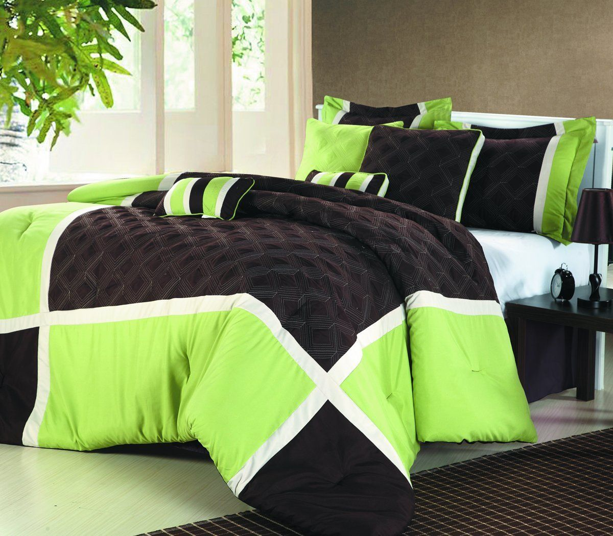 Black White And Green Bedroom Lime Green And Black Bedding Sweetest Slumber My New