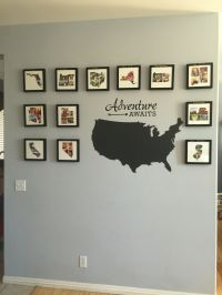 Travel wall - photo collages in the shape of each state we ...
